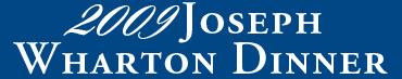 2009 Joseph Wharton Dinner